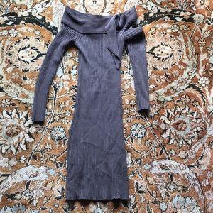 Jean Paul Gaultier off the shoulder sweater dress
